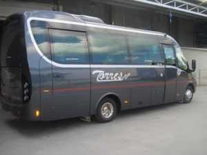미니버스 임대료 25 VIP 장소 호텔 교통편 마드리드 공항