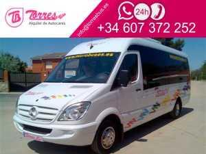 alquiler de microbus microbuses madrid transporte de viajeros