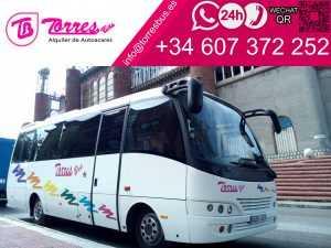 alquiler minibus minibuses 25 plazas en madrid