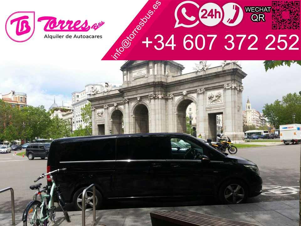 Alquiler minivan 7 plazas VIP - LUJO Madrid