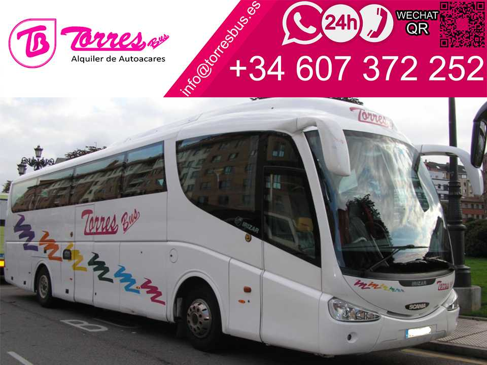 bus hire 54 plazas madrid bus company