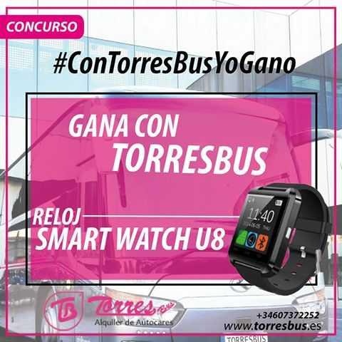 Concurso con TorresBus yo gano!! siguenos en redes sociales