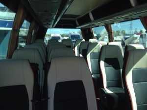 Aluguer de minibuses na empresa de transporte de madrid