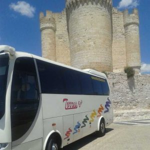 Peñafiel Castle Bus Towers