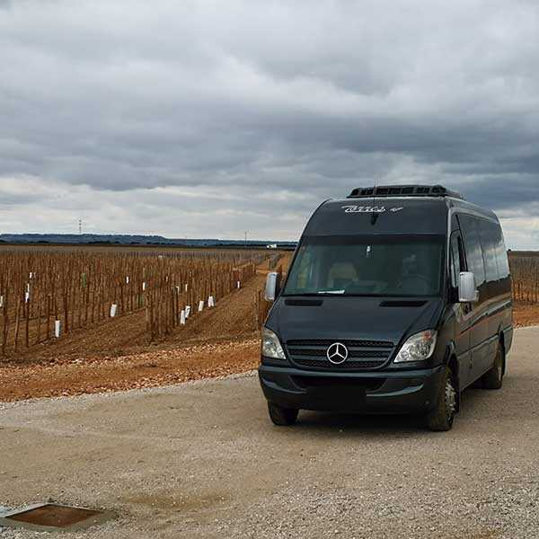 executive minibus rental madrid