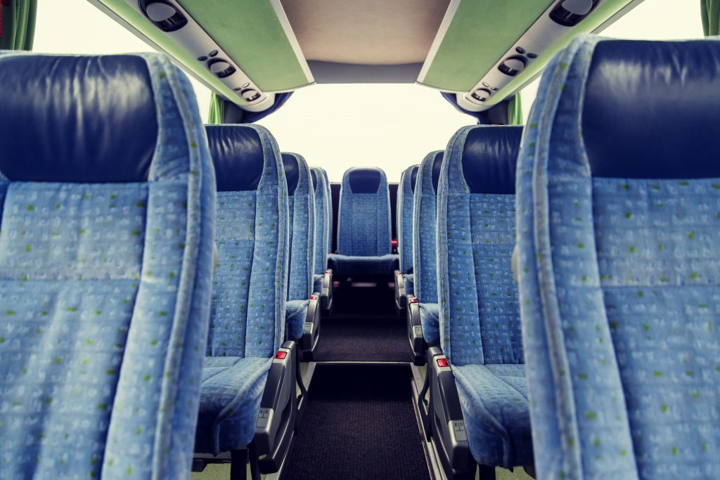 Coach hire in Madrid | Seats of a coach