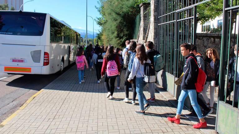 Alquiler de autobuses para transporte escolar